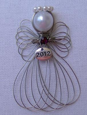 Handmade 2012 Dated Angel Ornament