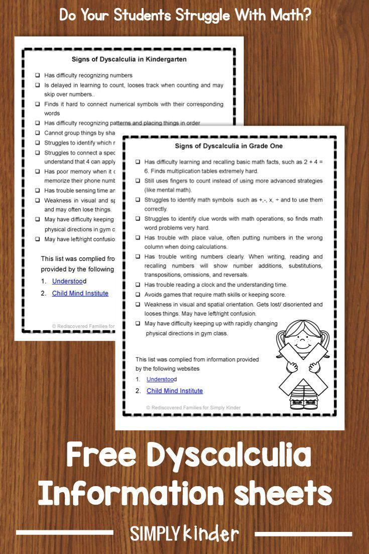 Signs And Symptoms Of Dyscalculia A Mathematical Learning
