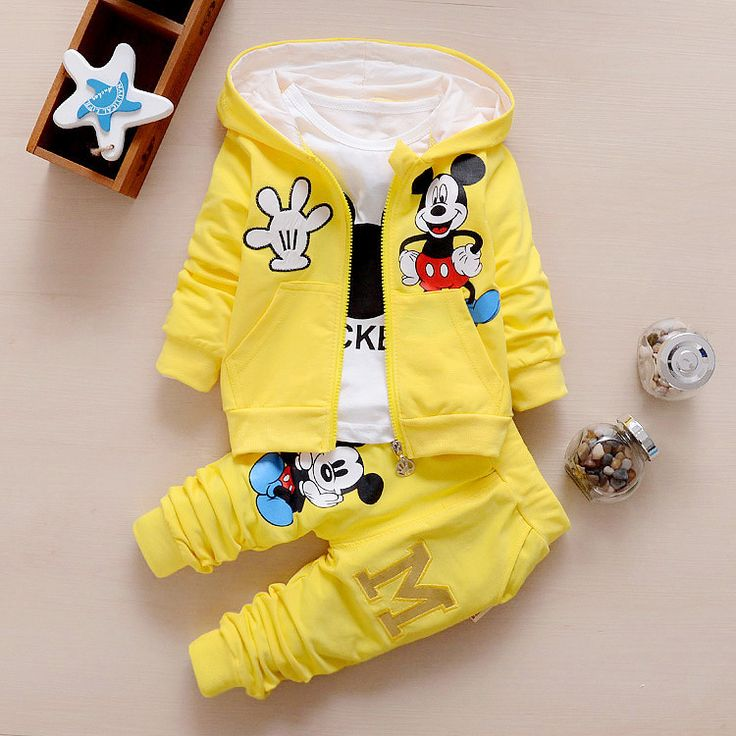 2016 Autumn Baby Girls Boys Clothes Sets Cute Minnie Infant Cotton Suits Coat+T Shirt+Pants 3 Pcs Casual Sport Kids Child Suits #>=#>=#>=#>=#> Click on the pin to check out discount price, color, size, shipping, etc. Save and like it!