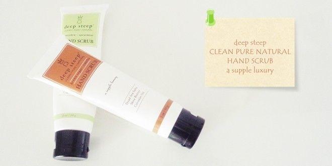 Προϊον για απολέπιση αποκλειστικά για τα χέρια. Αναλυτικό review για τα hand scrubs της deep steep με άρωμα honeydew - spearmint και brown sugar – vanilla.