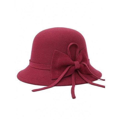 Bowknot Long Band Felt Fedora Hat