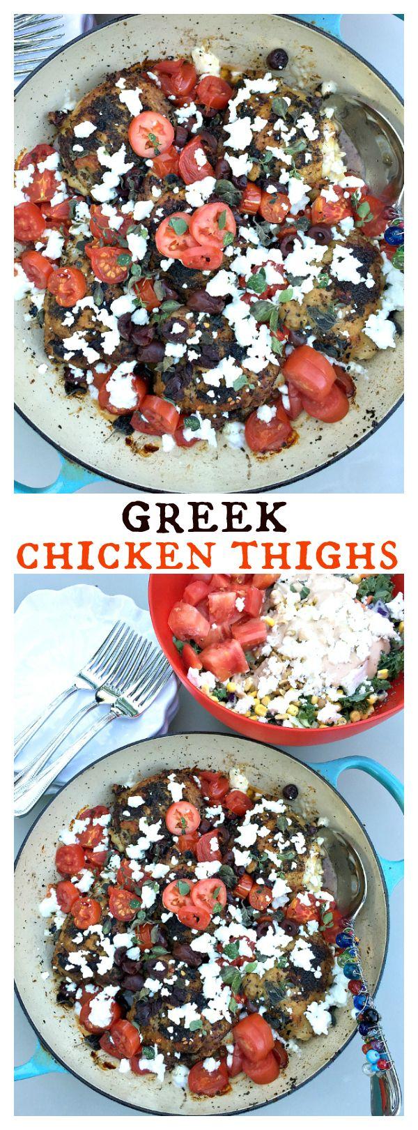 greek chicken thighs easy one pot dinner greek chicken thighs ...