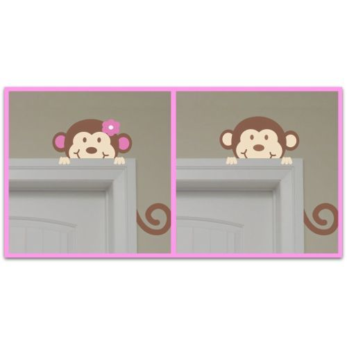Boy or Girl Monkey Wall Art mrsmckenziesmonograms.com