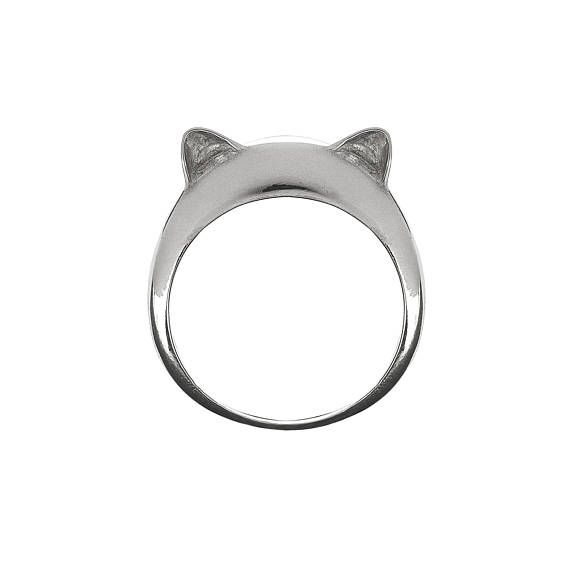 Kitty Ears Simple Silver Ring.