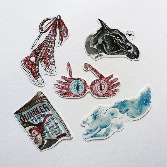 Luna Lovegood stickers pack Harry Potter gift idea by SantaMatita