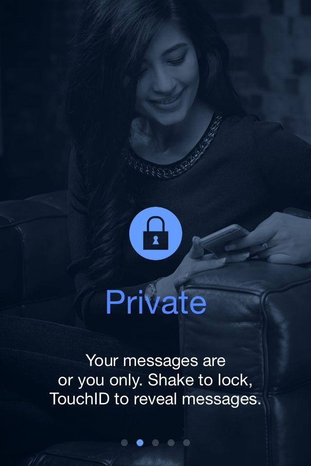 I tuoi Messaggi sono in buone mani: SOLO tu potrai leggerli. La riservatezza è importante.  Scaricala gratis su www.pushmeapp.org