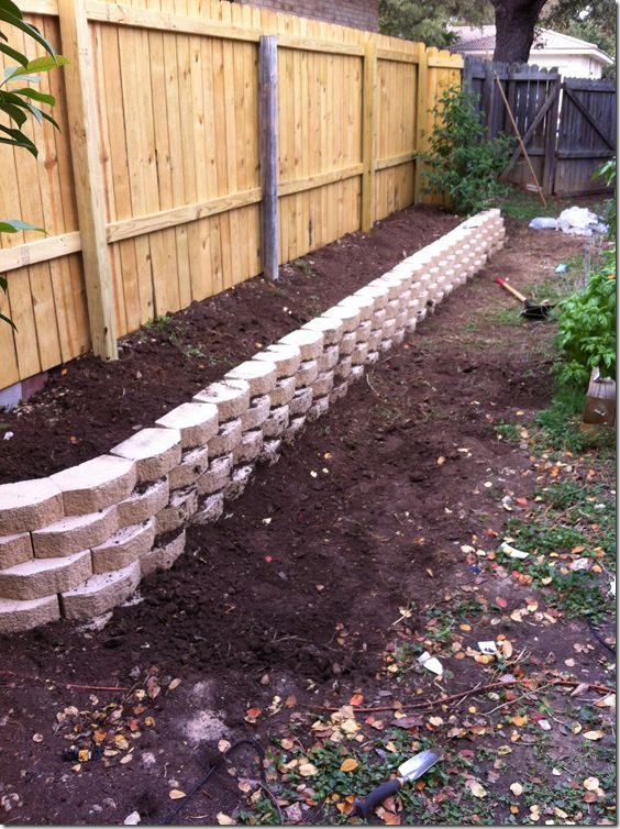 Retaining walls. Greg and I were just talking about putting this in our yard! Thanks @Maria Louisa
