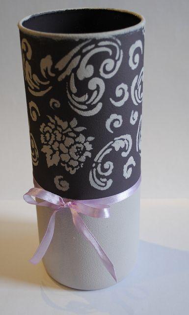 Csináld magad váza sablonnal! :)  DIY vase with stencil