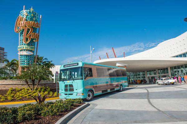 Shuttle service from the Cabana Bay Beach Resort; Courtesy of Universal Orlando Resort