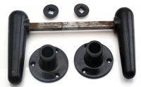 Brugte bakelit dørgreb - Top kvalitet, klassisk design - Genbyg A/S