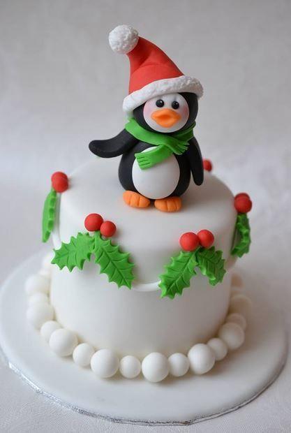 tortas con fondant navideñas - Buscar con Google