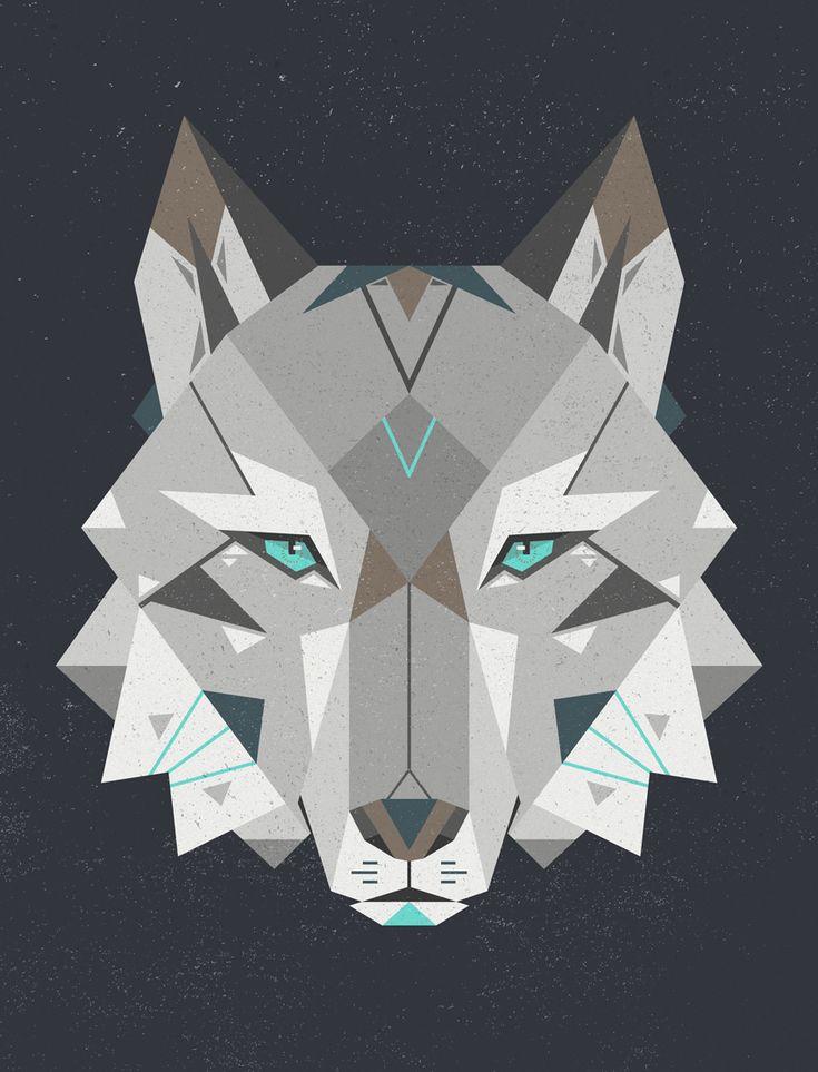 geometric wolf...