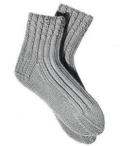 Knitting Pattern For Sport Socks : 99 best Vintage Knitted Sock, Slippers and Shoes images on Pinterest Vintag...