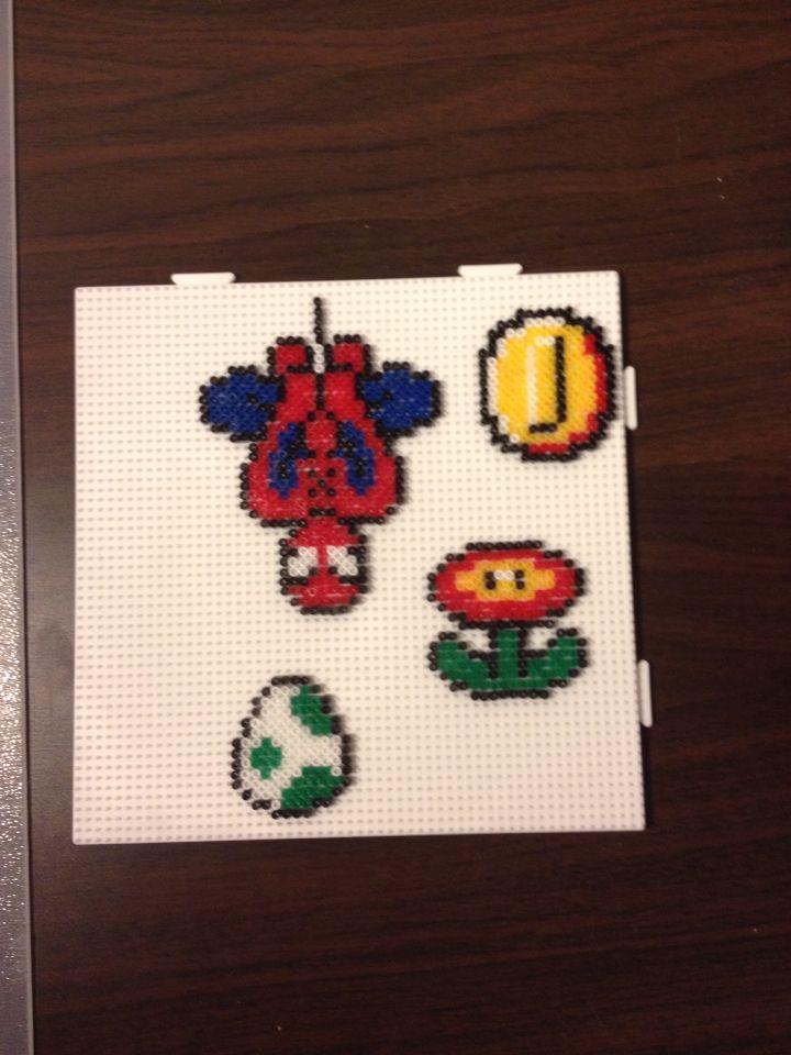 Mini Hama Spiderman, Mario figurines