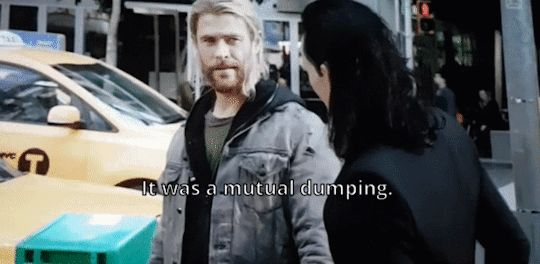 A mutual dumping of what? He dumped her at the same time she dumped him for the same reason?