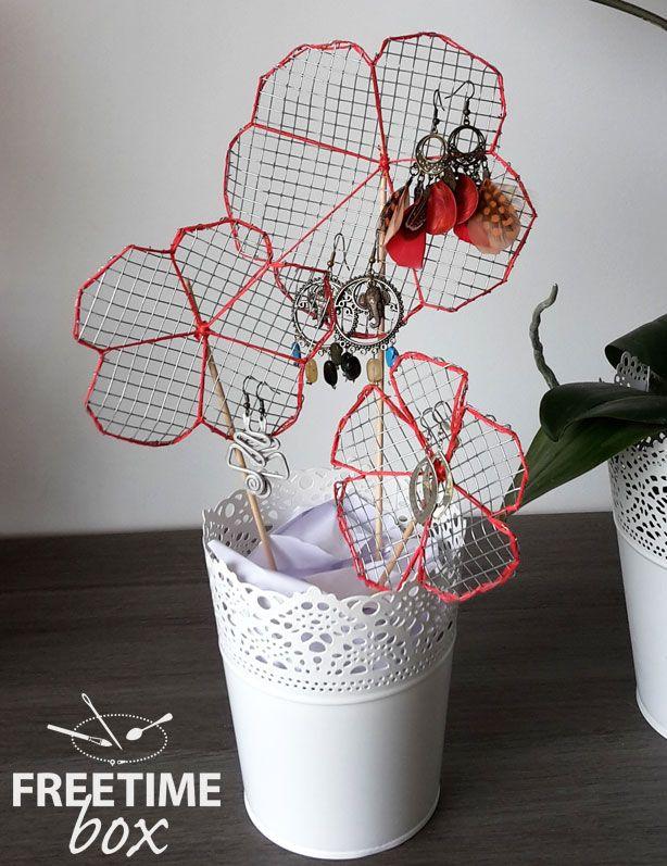 Tuto DIY : créer votre porte boucles d'oreille en forme de plante.
