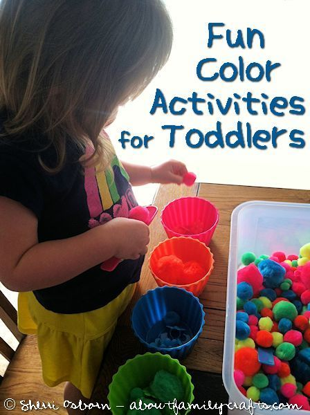Lots of color activities for toddlers.  I love using household items (cupcake liners, craft items etc) in new ways!