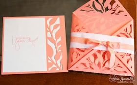 Lorrie's Story: Card Wrap Celebrate card with Silhouette - via http://bit.ly/epinner