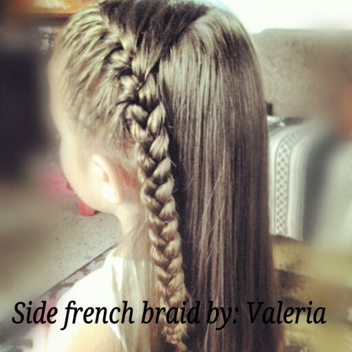 Side French Braid For Little Girls