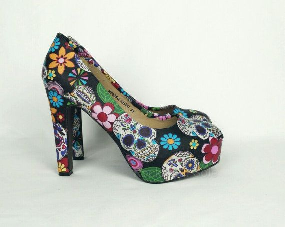 Hey, I found this really awesome Etsy listing at https://www.etsy.com/listing/279823726/day-of-the-dead-heels-sugar-skull-heels
