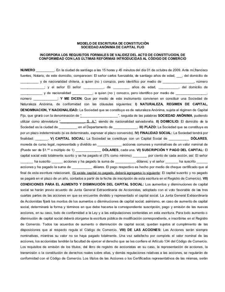 MODELO DE ESCRITURA DE CONSTITUCIÓN…