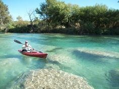 Kayak the Devil's River, TX. Said to be the best river to raft or kayak in Texas.