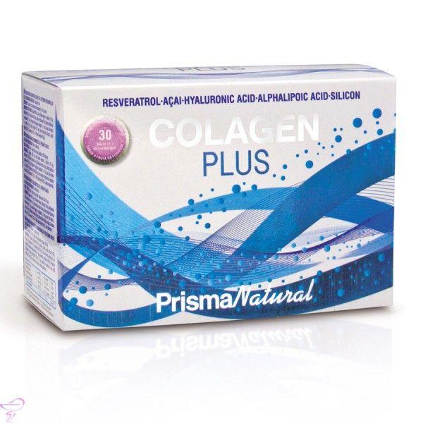 Colagen Plus es un suplemento rico en colágeno, la proteína más abundante del cuerpo y elemento principal de la piel, huesos, tendones, cartílagos, vasos sanguíneos y dientes. http://www.cuidadosfarmaceuticos.com/nutricion-deportiva/colagen-plus-30-sobres.html