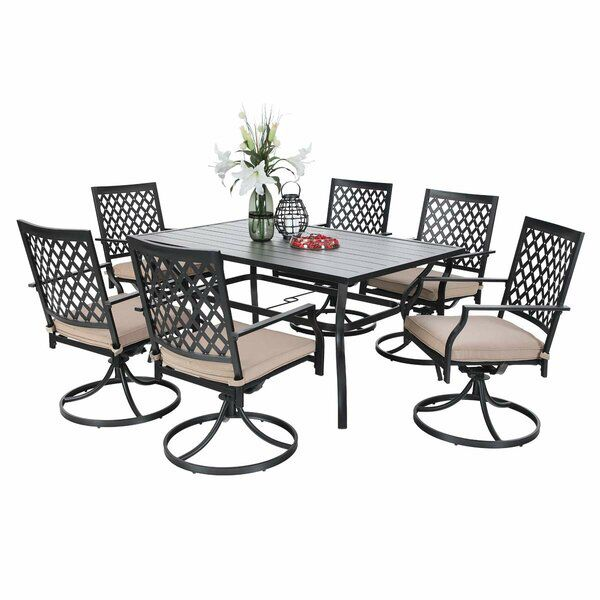 Thibodeau 7 Piece Dining Set In 2020 7 Piece Dining Set Patio Dining Set Furniture