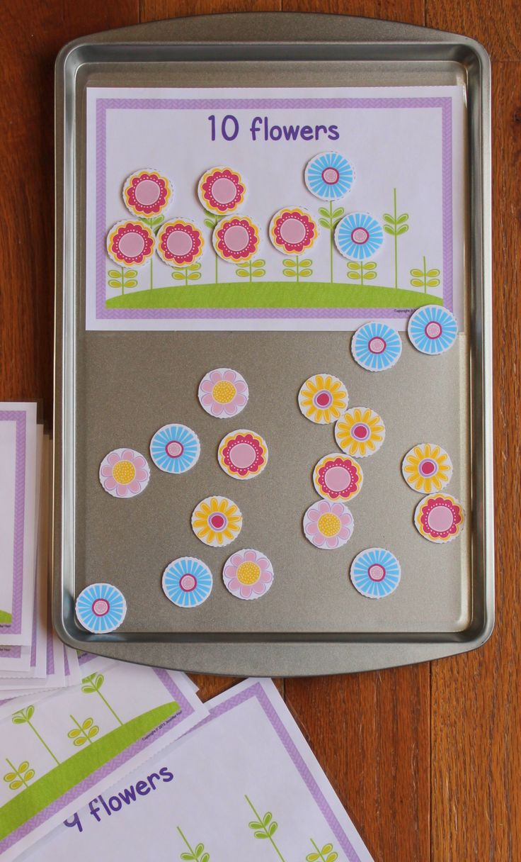 Spring Flowers! - activities for counting, one-to-one correspondence, and construction & deconstruction numbers.