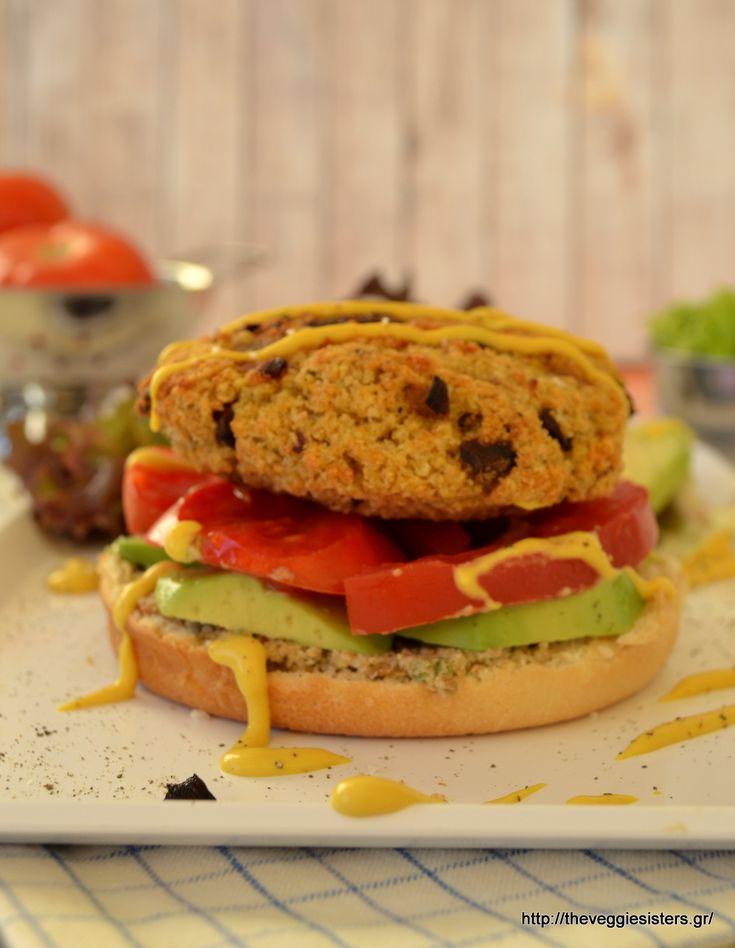 "Vegan ""junk food"": mushroom millet burger: a crowd pleaser!"