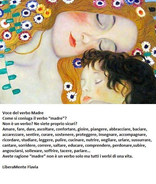 AUGURI A TUTTE LE MAMME DEL MONDO...AUGURI ANCHE A ME!!! Oggi ho sentito questa poesia...piccola...semplice...bella