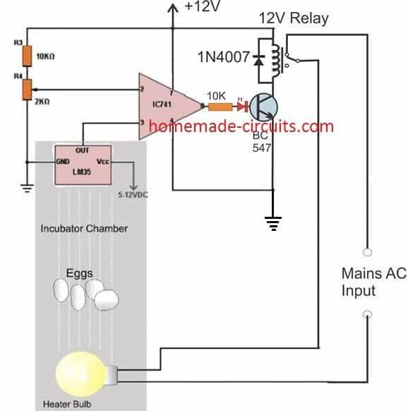 How To Build A Simple Egg Incubator Thermostat Circuit Homemade Circuit Projects In 2020 Egg Incubator Homemade Incubator Incubator