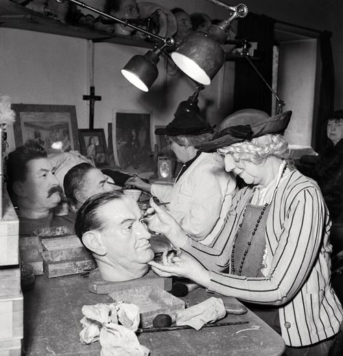 Making Waxworks at Madame Tussaud's, London, 1935 by E.O. Hoppé