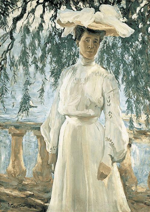 Леон   Бакст.   Портрет   Любови  Гриценко,  жены   Бакста,  дочери   именитого  купца,  основателя  художественной  галереи  Павла  Третьякова.