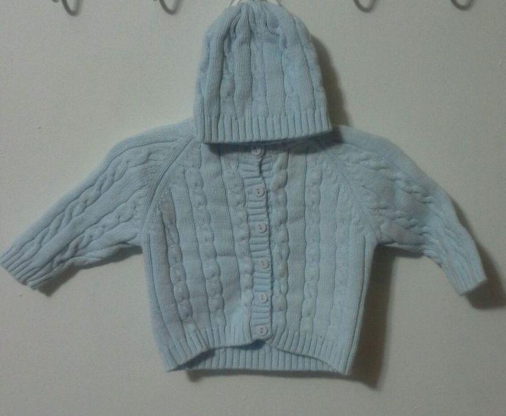Baby Dove Boys Sweater & Hat/Cap/Beanie Size 0-3 / 3-6 months, Infant Kids #babydove #Cardigan #DressyEverydayHoliday