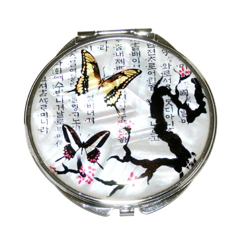 Mother of Pearl Butterfly Design  Makeup by MotherOfPearlShop, $19.50