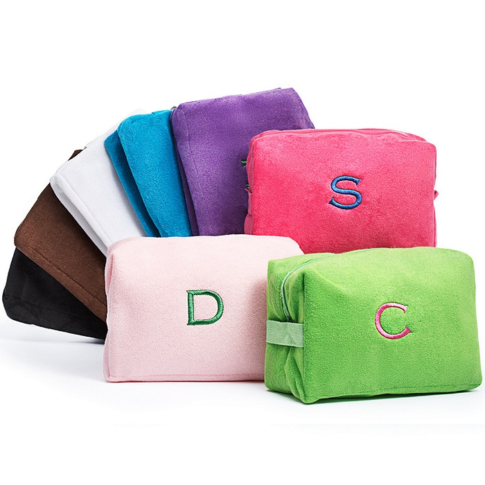 [the knot] Personalized 'Terry Cloth' Cosmetic Bag - $19.95