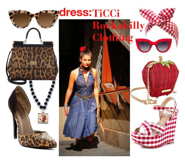 denim dress by ticci-1 on Polyvore featuring Michael Antonio, Paris Hilton, Dolce&Gabbana, Betsey Johnson, Retrò and MANGO