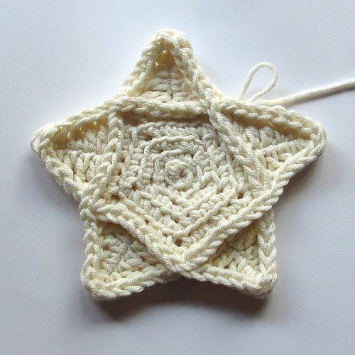 68. Freeform Unicolor Cardigan Pentagram Progress 3 by hykevandermeer, via Flickr
