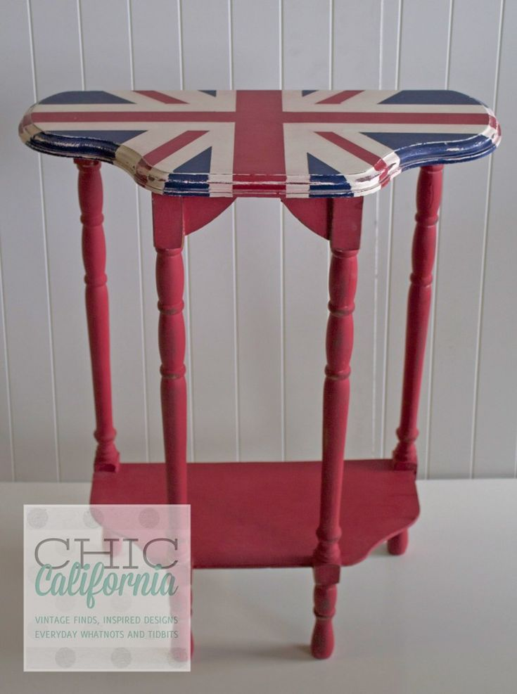 downton abbey furniture | Before and After: Downton Abbey Inspired Union Jack table