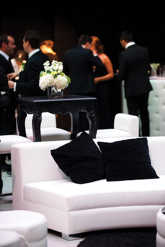 Include a lounge area for your guest to comfortable mingle as they celebrate your union.