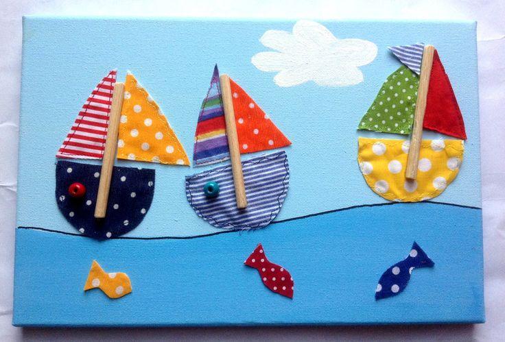 Quadretto co la barchette di Hana's Kids Italia su DaWanda.com