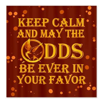 Hunger Games Keep Calm Shower Curtain Keep Calm and May the Odds be Ever in Your Favor with #HungerGames Bird graphic art on shower curtains, bedding and more #Cafepress $44.99