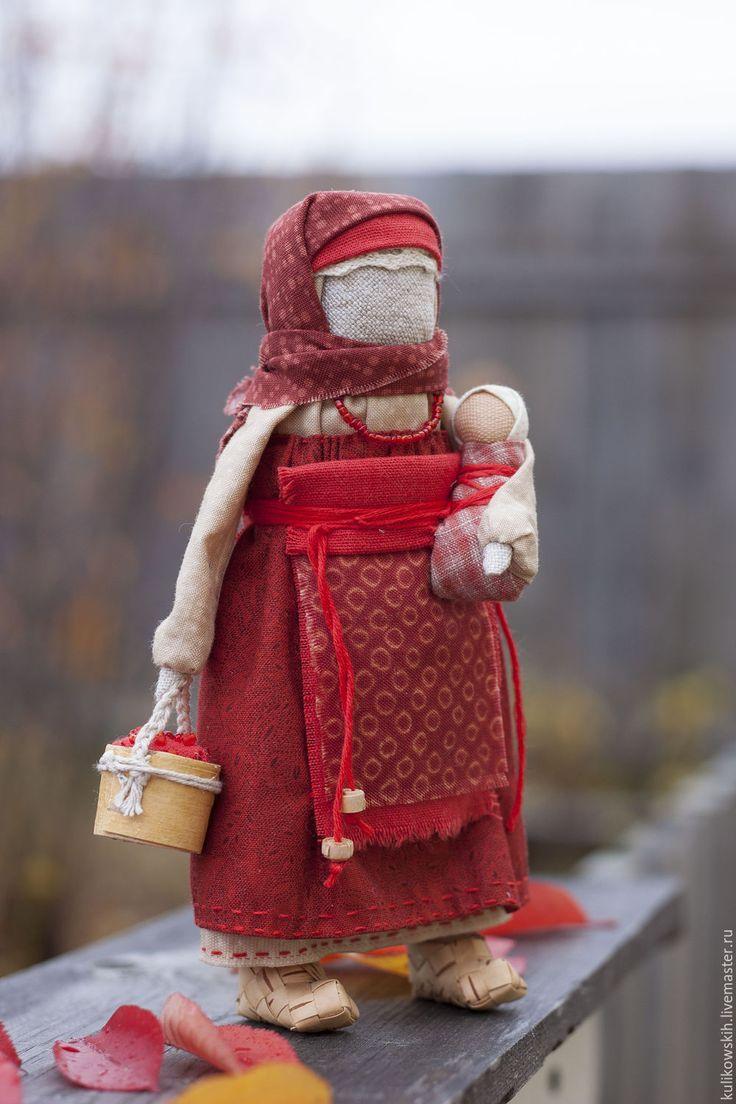 Купить Кукла народная Мамушка Ягодная - бордовый, мамушка, народная кукла, народная традиция