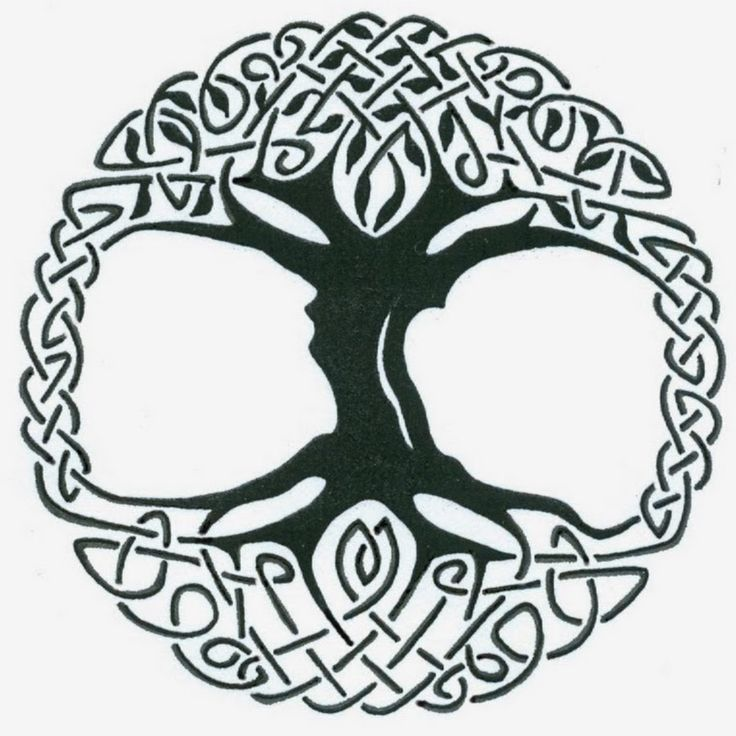 Black Celtic Tree Of Life Tattoo Stencil By Captain Bret