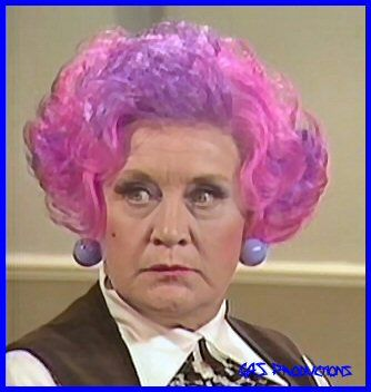 Mrs. Slocombe. Are You Being Served? One of my first Britcoms and it is still funny!