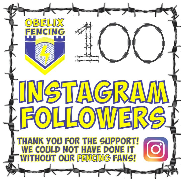 You are not going to believe it but our social media is going off today! :) Obelix Fencing is excited to announce that we have finnally reached 100 Fencing Followers on Instagram! (insert happy fencing dance here!) Whoop! Whoop! #hardworkpaysoff :) Thank you to all of our Fabulous Fencing Followers who have liked, commented, followed and of course given us all of those Fantastic Fencing pictures to drool over! So all of you Insta folks out there please follow @obelixfencing