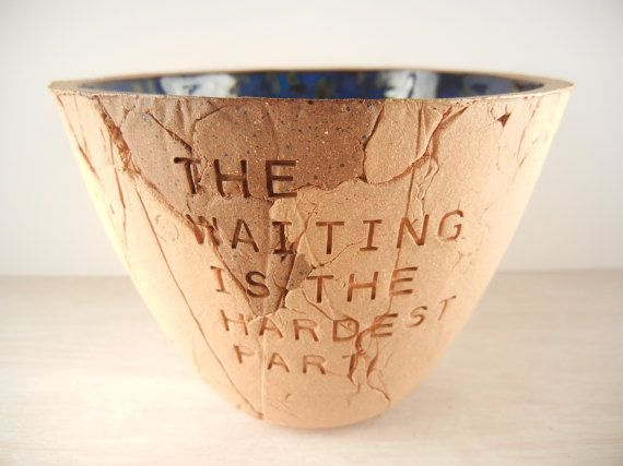Tom Petty  The Waiting  Pottery Bowl / Song by BraidwoodPottery