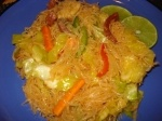 [ad#ads-1] Ingredients: 1 lb bihon (rice noodles) 1 cup chicken broth 2 lb meat (chicken or pork or both), boiled, deboned and shredded 1 lb shrimp, shelled 3 cloves garlic, minced 1 small onion, thinly sliced 1/2 Chinese cabbage, thinly sliced 3 carrots, julienned 1/4 cup sesame (or vegetable) oil 3 tablespoons soy sauce 1/2 [...]