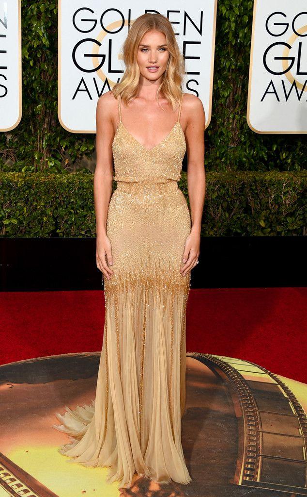 2016 Golden Globes Red Carpet Arrivals Rosie Huntington-Whiteley, Golden Globe…